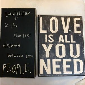 Other - Decorative Quote Signs